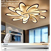 Eurohandisplay 2127 LED Ceiling Light with Remote Control Light Colour / Adjustable White Acrylic Shade Painted Metal Frame