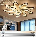 Eurotondisplay LED Deckenleuchte 2127-12W mit Fernbedienung Lichtfarbe/ Helligkeit einstellbar Acryl-Schirm weiß lackierte Metallrahmen (2127-12 Wohnzimmerleuchte Kronleuchte Pendelleuchte DeckenlampeDeckenstrahler LED Deckenleuchte Hängeleuchte Hängelampe LED lampe LED Leuchte Beleuchtung Einbauleuchte Wandleuchte Spot Lüster