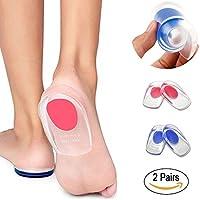 Preisvergleich für 2 Paar Gel-Fersenpolster, Silikon Fersenpolster und Gel Fersenschutz für Fußschmerzen Relief fersensporn einlagen...