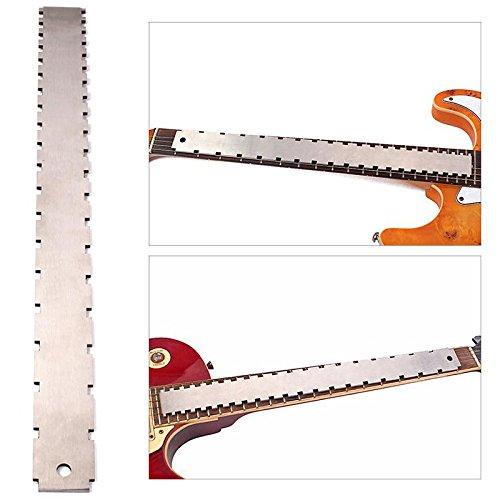 MagiDeal Entallado Recto Borde Fingerboard Regla para Guitarra de Acero Inoxidable Luthier Herramienta