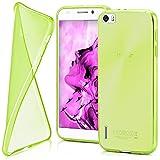 moex Huawei Honor 6 | Hülle Silikon Transparent Grün Clear Back-Cover TPU Schutzhülle Dünn Handyhülle für Honor 6 Case Ultra-Slim Silikonhülle Rückseite