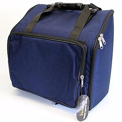 Steirische Harmonika Tasche Rucksack DELUXE-PRO Blau 4-reihig