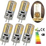 GreenSun 5er-Pack G4 Stiftsockel 3W LED Energiesparlampe Glühbirne 48*3014SMD Leuchtmittel Birne Lampe Kühlesweiß 360º Abstrahlwinkel AC/DC 12V