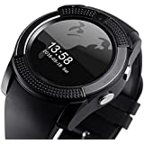 Raptas V8 Bluetooth Smartwatch With HD Camera/TF/SIM Card Support For Android/iOS Devices (Color May Vary)