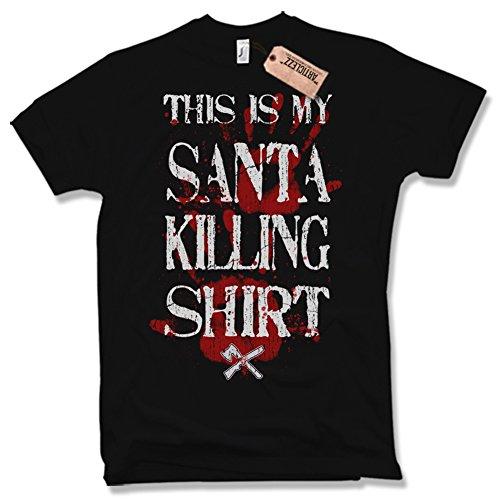 SANTA KILLING SHIRT T-Shirt, Funshirt, Weihnachtsmann, verschiedene Farben, Gr. S