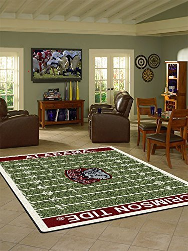 Alabama College Home Football Field Rug: 5'4