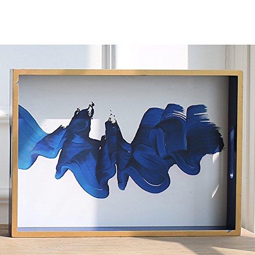 Decorazioni per la casa tè vassoio/ cristallo/ frutta/Royal Blue-B