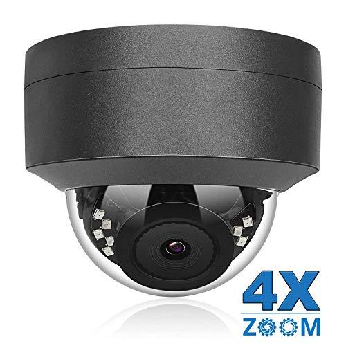 5MP PoE IP Kamera 4X optischer Zoom, IP Überwachungskamera IR Nachtsicht Outdoor & Indoor Wetterfest, Bewegungserkennung, Onvif kompatibel H.265/H.264 5 X Kamera