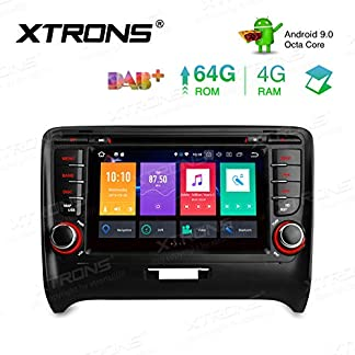 XTRONS-7-Android-4GB-RAM-64GB-ROM-Autoradio-Octa-Core-mit-Touchscreen-Android-90-DVD-Player-Autostereo-untersttzt-3G-4G-Bluetooth-DAB-OBD2-CAR-Auto-Play-TPMS-FR-Audi-TT-MK2-8J