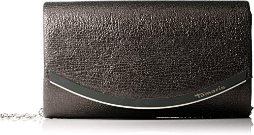 Schnalle Baguette-handtasche (Tamaris Damen Zelda Clutch Bag Schwarz (Black), 11x5x19 cm)