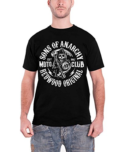 Reaper offiziell Herren Nue Schwarz T Shirt (Sons Of Anarchy Womens Jacket)