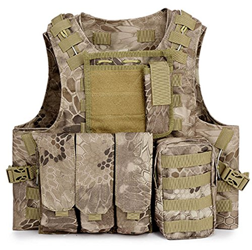 SaySure - Military Tactical Vest Assault Airsoft SAPI Plate carrier