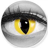 Lenti a contatto colorate annuali lenti a contatto Meralens 1 giallo Crazy Fun Cat Eye . Top quality to carnival carnival Halloween con lenti a contatto contenitore senza forza