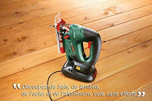 Bosch DIY Akku-Stichsäge PST 18 LI, ohne Akku, Sägeblatt, CutControl, Abdeckschutz (18 V, 2,5 Ah, max. 80 mm Schnitttiefe in Holz) -