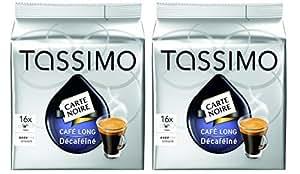 tassimo carte noire cafe long decaffeinated decaf 16 t discs pack of 2 total 32 discs. Black Bedroom Furniture Sets. Home Design Ideas