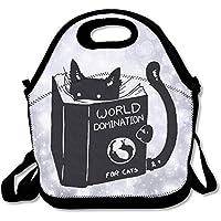 Preisvergleich für Mittagessen Tote Lesen Buch Cat Lunch-Boxen Lunchpaket Handtasche Lebensmittel Aufbewahrung passend für Schule Reisen Arbeit Outdoor