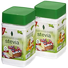 Castelló Since 1907 Dolcificante Stevia + Eritritolo 1:3 – Confezione 2 x 300 g – Total: 600 g
