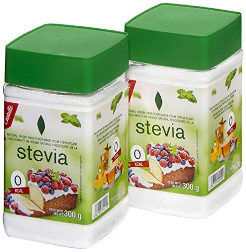 Castelló Since 1907 Edulcorante Stevia 1:3 - Paquete de 2 x 300 gr - Total: 600 gr