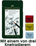 Faber-Castell 119065 - Bleistift CASTELL 9000, 12er Art Set, Inhalt: 8B - 2H + Künstler Knetgummi (Farbe zufällig)