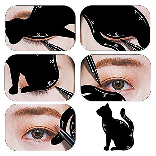 MLMSY Cat Eyeliner Stencil Matte PVC Material Repeatable Use Smokey Eye Models Template Shaper Tool