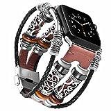 Band für Apple watch 42mm Braun,Leder iWatch series 3 armband,Sport Nike Edition Series 1/2 Uhrenarmband