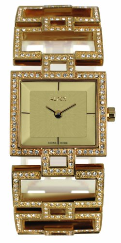 Alfex – 5685 _ 817 – Ladies Watch – Analogue Quartz – Beige Dial Gold Plated Steel Bracelet