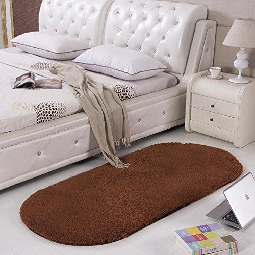 SAN QIAN WAN- Alfombra Alfombra de noche Alfombra ovalada Alfombra de dormitorio de color sólido Alfombra de dormitorio Alfombra ( Color : C , Tamaño : 80x200cm )
