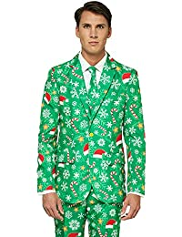OFFSTREAM Suitmeister Trajes de Navidad - Incluyen Chaqueta, Pantalones y Corbata