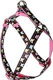 Zolux Candy Geschirr Nylon verstellbar für Hunde Motiv Bulldogge Kopf Farbe Schwarz breite 10mm