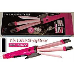 Nayka Professional 2 In 1 Hair Curler & Hair Straightener With Temperature Control