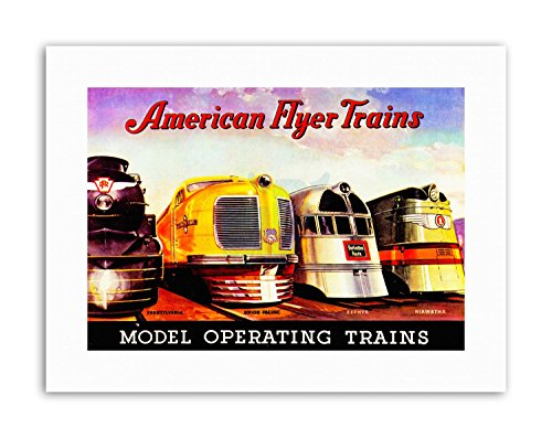 AD MODEL TRAIN ENGINES AMERICAN FLYER TOY KIDS Canvas art Prints (Canvas-flyer)