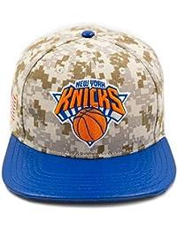 Pro Standard Men s NBA New York Knicks Team Logo Buckle Back Hat Camo Brown c7600023de9