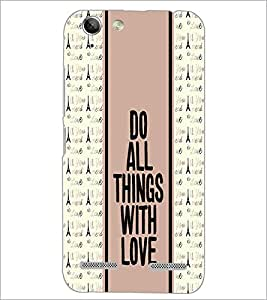 PrintDhaba Quote D-3833 Back Case Cover for LENOVO LEMON 3 (Multi-Coloured)