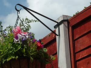 8 x Hanging Basket Brackets for Concrete Posts supports Easy Fill baskets