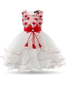 Cielarko Vestido Elegante Boda Fiesta con Flores para Niña