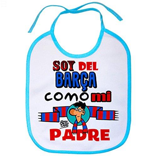 Babero soy del Barça como mi padre Jorge Crespo Cano - Celeste
