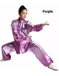 ZOOBOO de alta calidad de las mujeres gradiente artes marciales Tai Chi Traje Uniforme Ropa de Kung Fu Wushu, unisex, color morado, tamaño XS