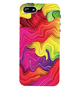 ColourCrust Apple iPhone 5S Mobile Phone Back Cover With Colourful Pattern Style - Durable Matte Finish Hard Plastic Slim Case