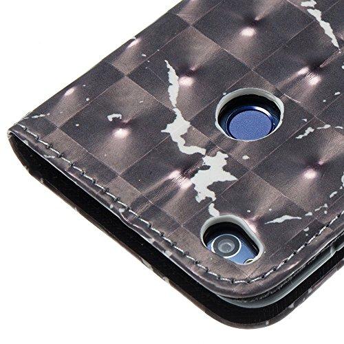 Marmor Stein Grain Texure Pattern PU Ledertasche Cover, Retro Bookstyle Flip Stand Case mit Magnetverschluss & Card Slots & Lanyard für HUAWEI Hornor 8 Lite (P8 LITE 2017) ( Color : F ) A