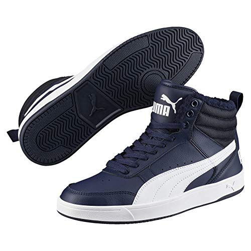 Puma Unisex-Erwachsene Rebound Street V2 FUR Hohe Sneaker, Blau (Peacoat White 06), 42 EU