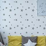 verstreut Sterne Kinderzimmer Muster Schablone Mädchen Jungen Kinderzimmer Haus Wand Dekorieren & Basteln Schablone Farbe Wände Stoffe & Möbel 190 Mylar wiederverwendbar Schablone
