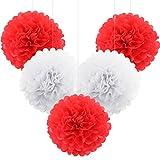 WINOMO - 5 bolas de papel de seda para decoración de bodas y fiestas