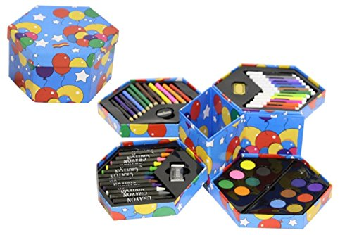 craft-kinder-52-stuck-art-kunstler-set-sechskant-buntstifte-wasserfarben-stifte