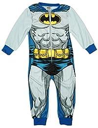 BATMAN Niños Cuerpo Musculoso Microfleece Pijama Enterizo todo en un pelele tallas desde 2 a 8 Años