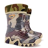 Demar Kids Boys Girls Wellies Wellington Boots Rainy Snow Warm Liner Sock Moro