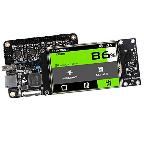 Baoblaze 3D Drucker Motherboard Controller-Modul A4988 Treiber Drucker LCD Bildschirm Display mit Netzkabel für 3D-Drucker (Druckkopf-netzkabel)
