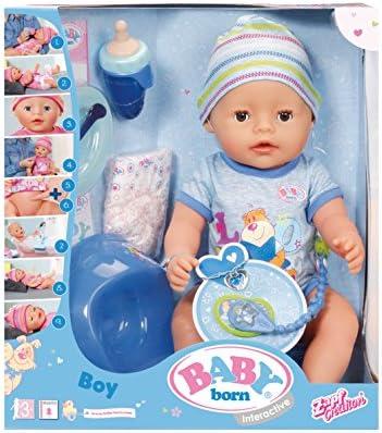 Baby Born–30880–Muñeca interactiva para niño Baby Born–9funciones y 11(incluye accesorios)
