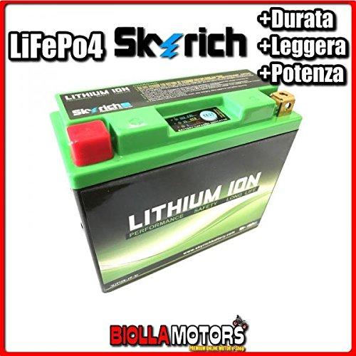 HJT12B-FP BATTERIA LITIO SKYRICH YT14B-BS LiFePo4 612125 YT14BBS MOTO SCOOTER QUAD CROSS