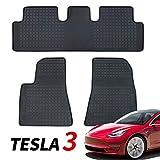 BMZX Model 3 Auto-Fußmatten-Set aus Gummi-Cargo-Liner für Tesla Model 3 Matten - Allwetter-Bodenschutz