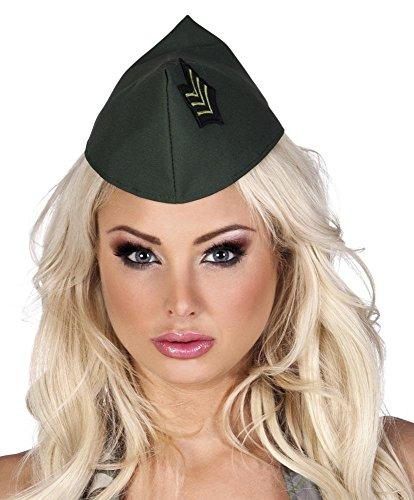 shoperama Army Militär Schiffchen Grün Hut Mütze Kappe -